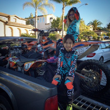 Off to @officialpalaraceway with Caleb and Clover to ride some motocross action - #braaapanddestroy - 2016