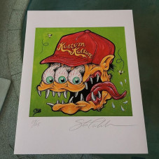 """""""Kustom Kulture"""" 11 x 14 (limited Edition of 25 prints) - they are personally numbered and hand signed. $50 postage paid within the USA, all other countries pay $65 in US dollars. This print also comes with a signed CAB skate poster as well. Purchase through www.PayPal.com website, my Paypal account is: halfcab22@gmail.com - please include your shipping address and item description your purchasing with the Paypal invoice - thank you!"""