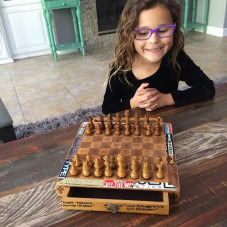 "So today Clover (age 6) says ... Daddy, will you teach me how to play chess?"" #blessed #chess #checkmate #joysofbeingadaddy"