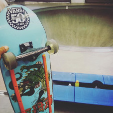 Combi -Pool session today getting ready for The @vansskate Pool Party in a little over a week from now
