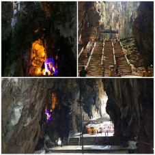 More photos from inside the Temple cave ...Super stoked to visit the BATU cave temple in Selagor, Malaysia with @jason_atr and @wretched_hive today on our day off of sight seeing before the @artofspeedmy Kustom Kulture show this weekend.