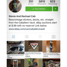 So are you following @caballerovault yet? If not you might be missing out on a few Caballero collectibles. My wifey runs this page and from time to time we go into our storage and pull out some goodies from my old stash of skate stuff I've kept from over the years of hoarding this and that. Some stuff is new and unreleased as well ... So take a peek, something just might interest you. Thank you